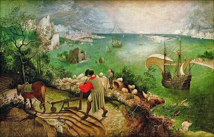 Upadek Ikara (ok. 1557), Pieter Bruegel (starszy)