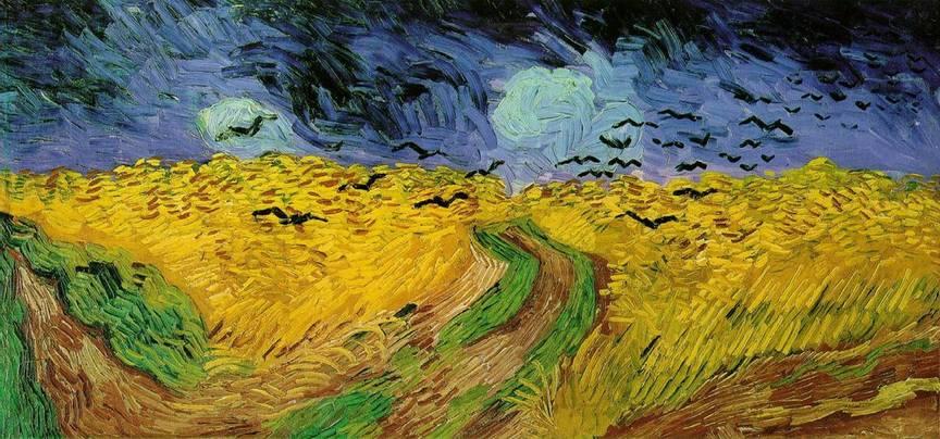 Kruki nad polem pszenicy Vincent van Gogh