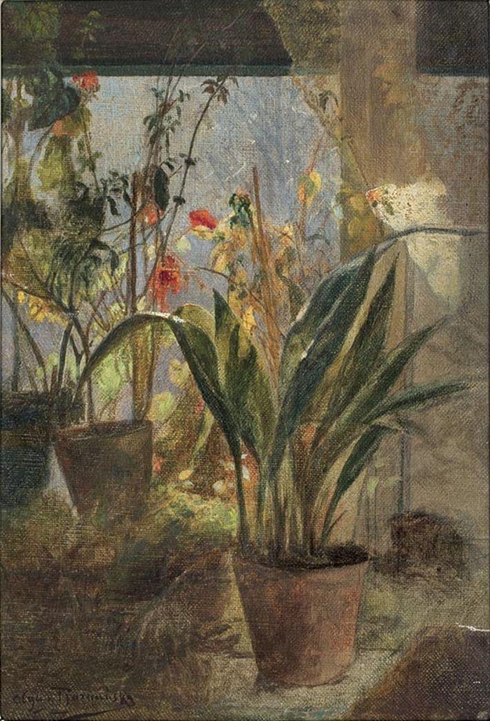 Kwiaty w oknie Olga Boznańska
