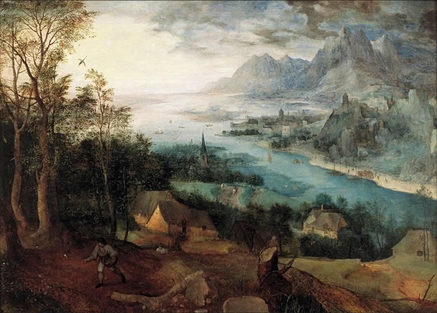 Pejzaż z przypowieścią o siewcy Pieter Bruegel Starszy
