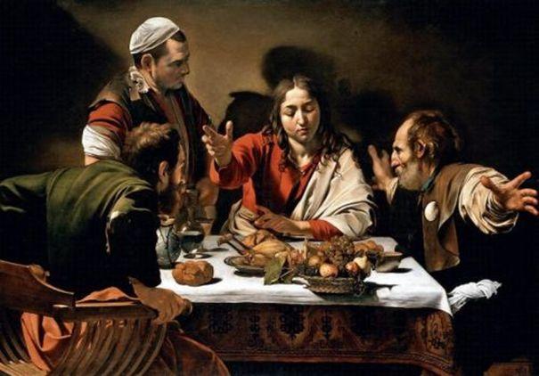 Caravaggio Wieczerza w Emmaus
