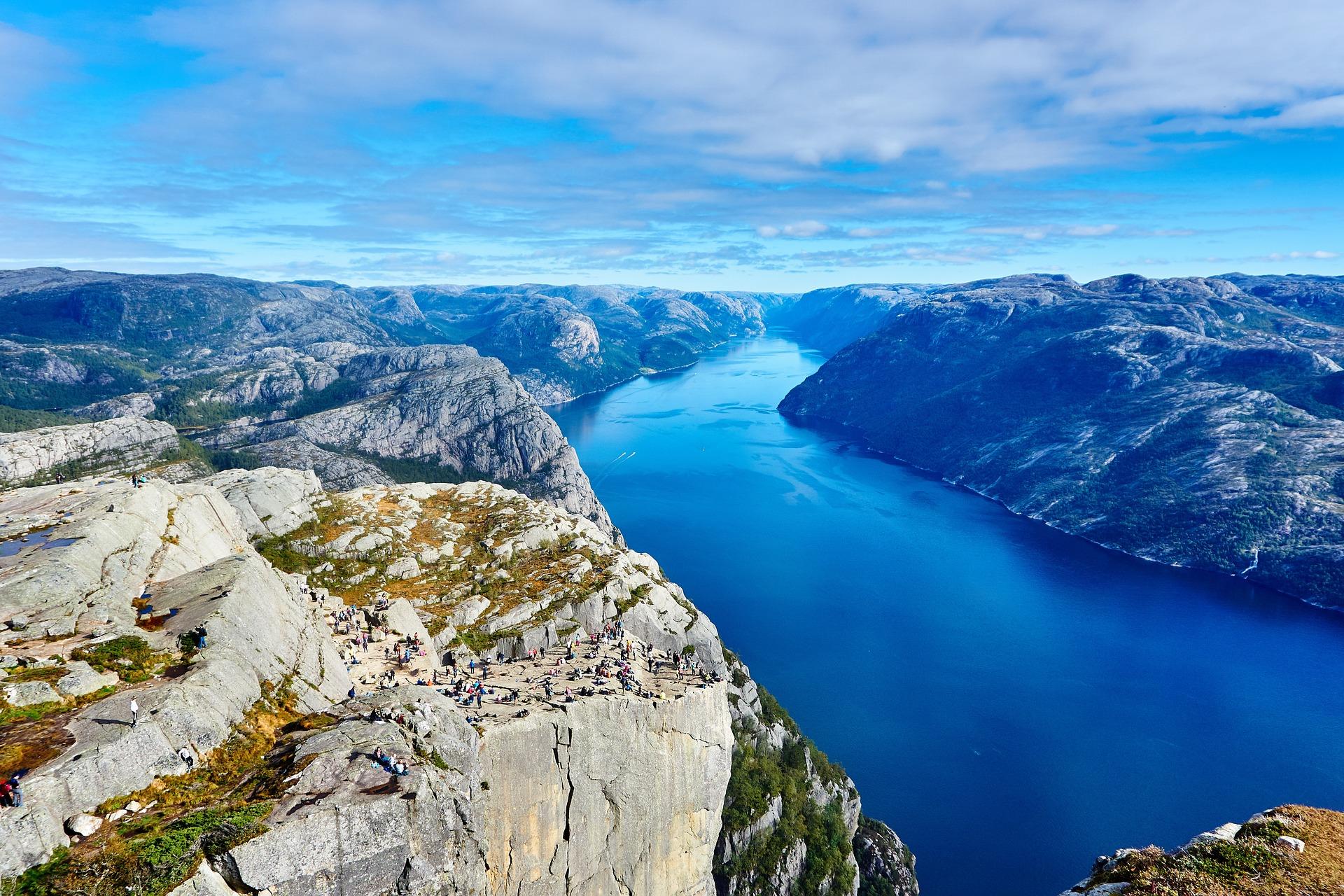 Zdjęcie fiordów norweskich