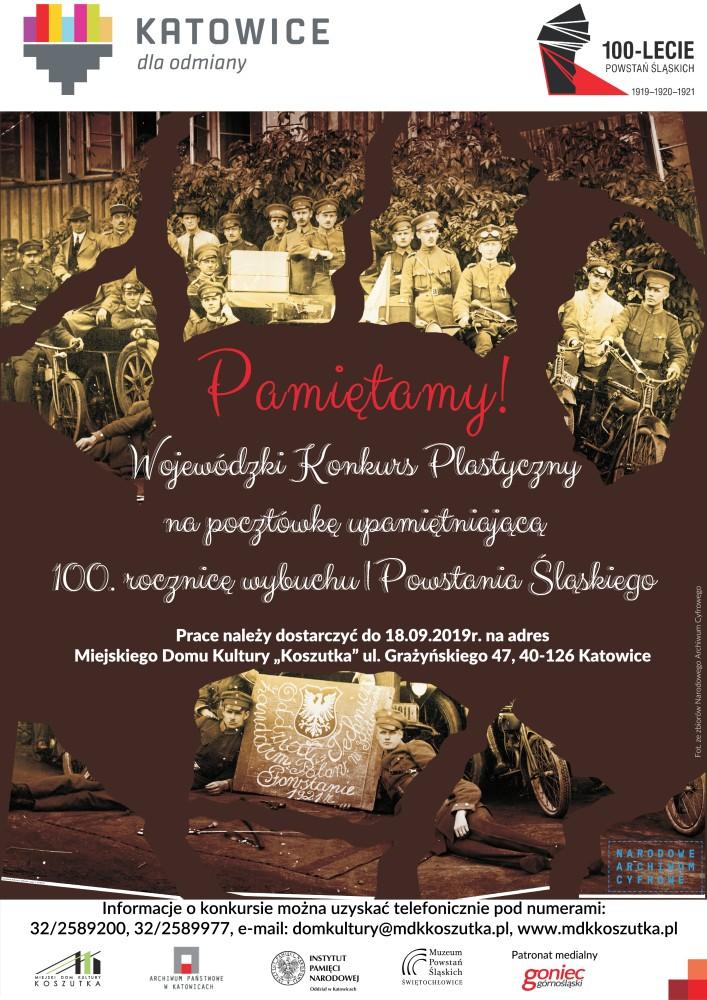 Plakat promujący konkurs Pamiętamy